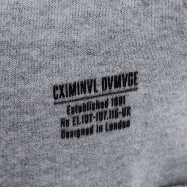Criminal Damage sweatshirt hoody Harlem grey