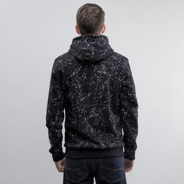 Criminal Damage sweatshirt hoody Splatter Reflective black