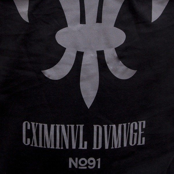 Criminal Damage t-shirt Fleur black