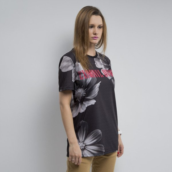Criminal Damage t-shirt Flower black / multi WMNS