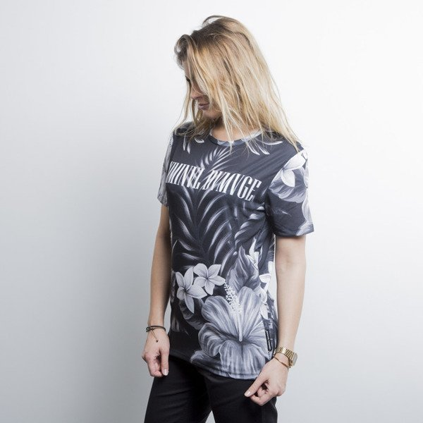 Criminal Damage t-shirt Najem black / grey WMNS