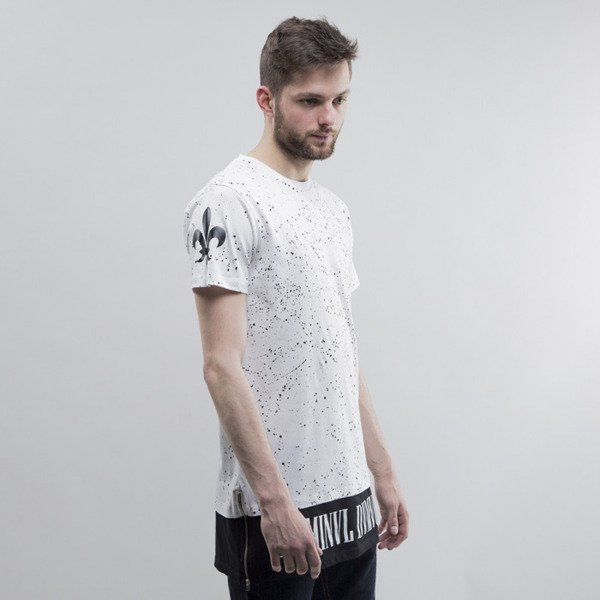 Criminal Damage t-shirt Splatter Long white / black