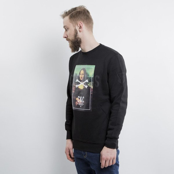 Crooks & Castles Mona Lisa crewneck black