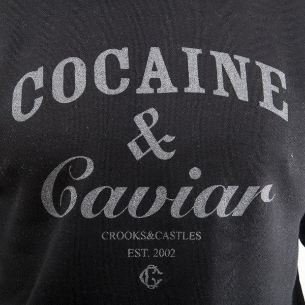 Crooks & Castles crewneck Cocaine & Caviar reflective black / silver