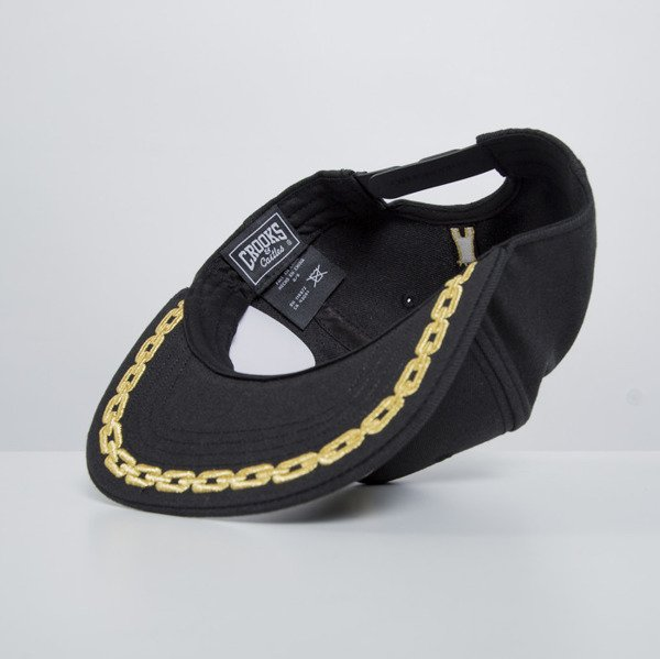 Crooks & Castles snapback cap Chain C black