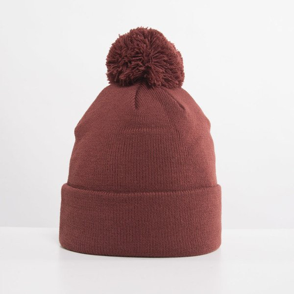 Crooks and Castles Core Logo Beanie burgundy