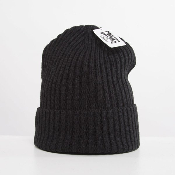Crooks and Castles Men's Knit Beanie Regal black