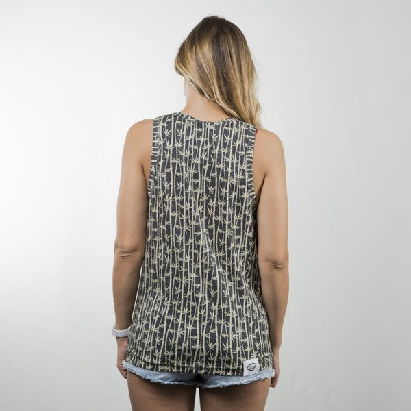 Diamante Wear Bamboo Palms Tank Top black / beige