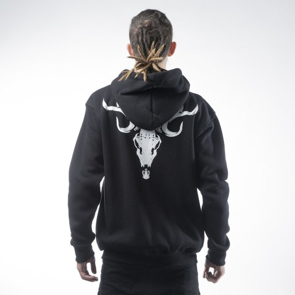 Diamante Wear sweatshirt Skull Zip Hoodie black
