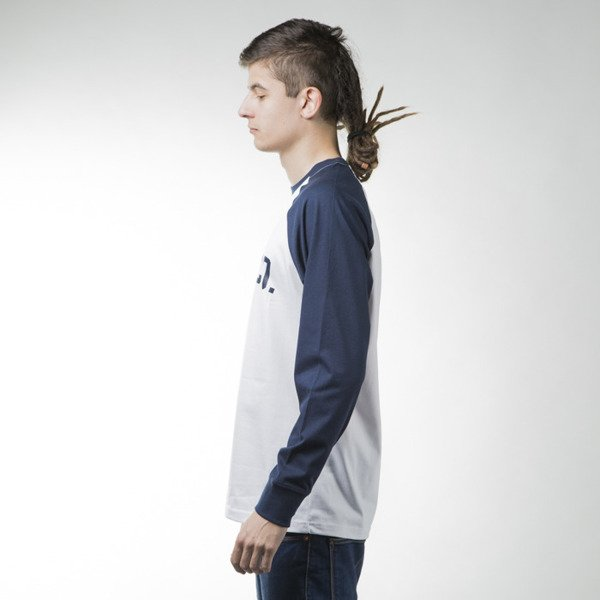 Elade Longsleeve College white / navy blue