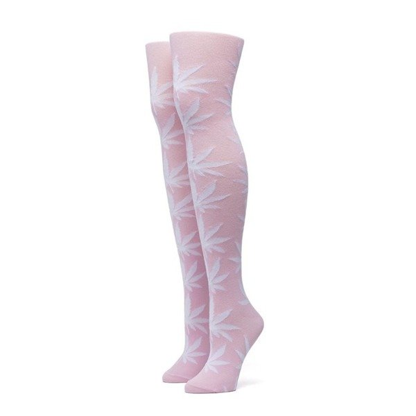 HUF Plantlife Thigh Highs pink
