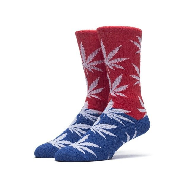 Huf Color Block Plantlife Crew Sock  red / blue