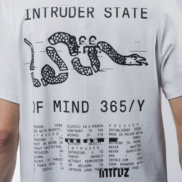 Intruz t-shirt Snake white