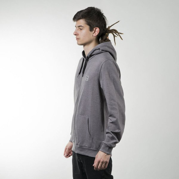Iriedaily Color Flag Zip Hood charcoal melange