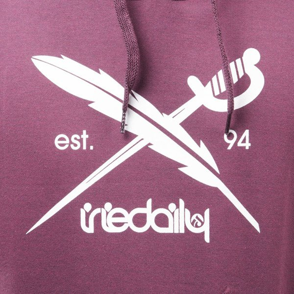 Iriedaily Daily Flag Hooded maroon melange