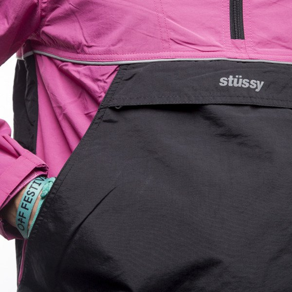 Jacket Stussy Reflective Sports Pullover berry