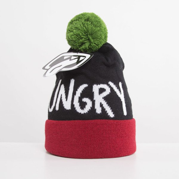 Jungmob Hungry Beanie burgundy / black / green