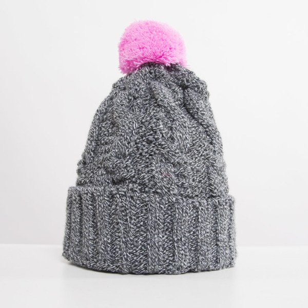 Jungmob Mess Beanie grey / pink