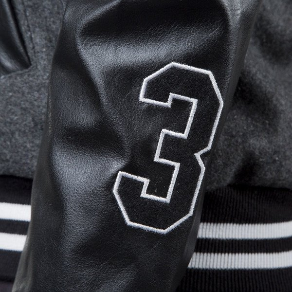 Jungmob jacket Gutsy Varsity grey / black