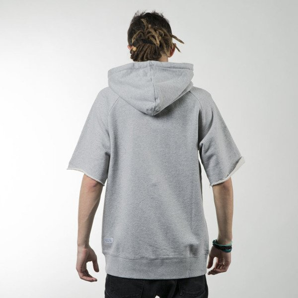 K1X All City Short-Sleeve Hoody heather grey / white (1161-2104/8110)