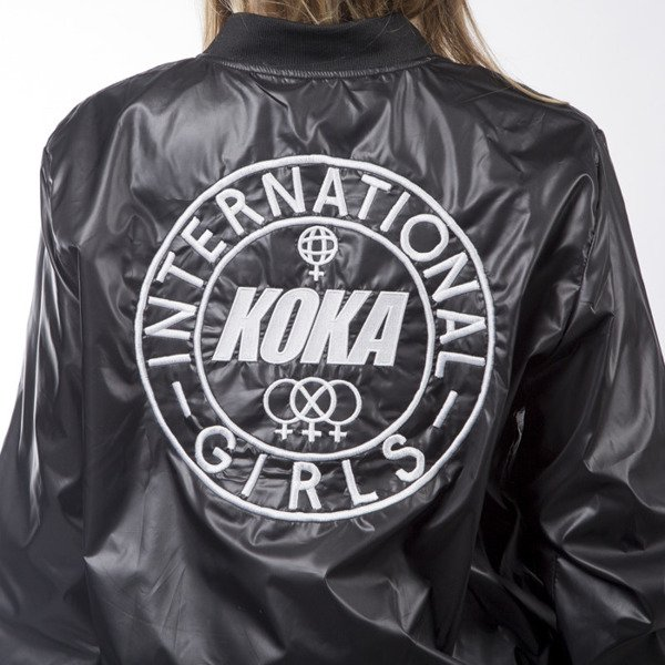 KOKA Bomber Reversible Jacket black / white WMNS
