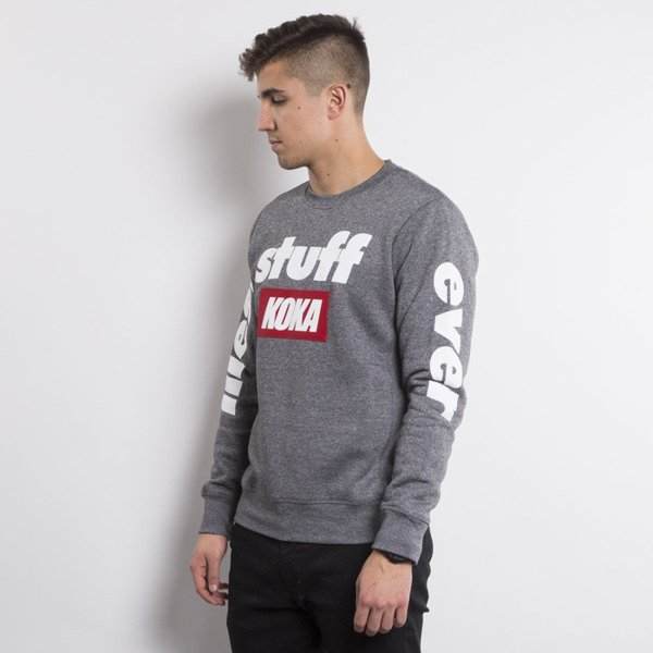 KOKA crewneck  ILLEST grey heather