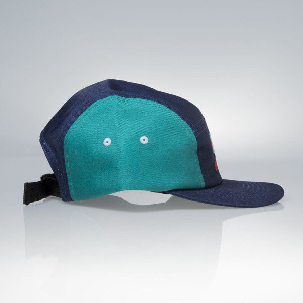 KOKA strapback 5-Panel Cap VHS navy / green