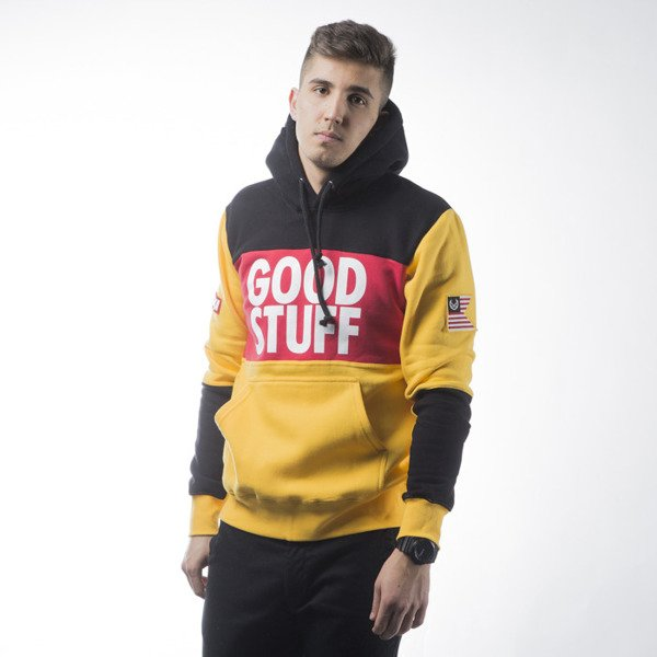 Koka Hoodie Good Stuff black / yellow