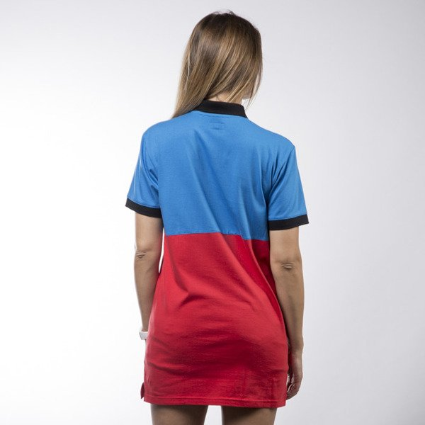 Koka International Polo Dress blue / white / red
