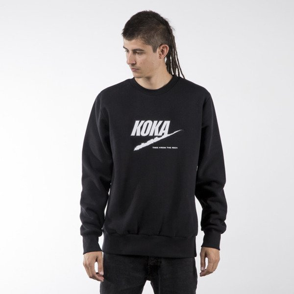 Koka sweatshirt Fake TFTR crewneck black