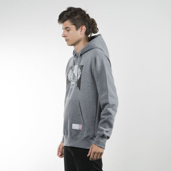 Koka sweatshirt Hoodie Hands Off heather grey