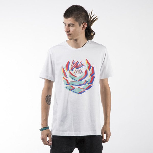 Koka t-shirt Blurry Laurel Tag white