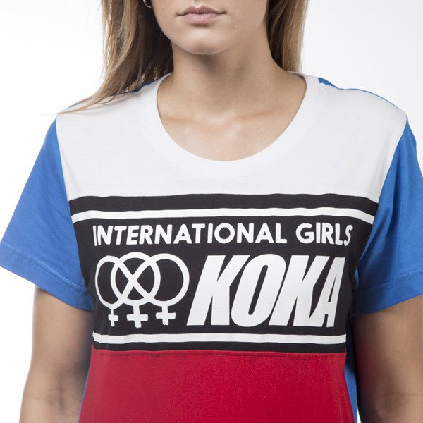 Koka t-shirt International red / white WMNS