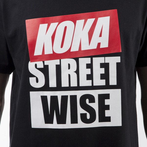 Koka t-shirt Wise black
