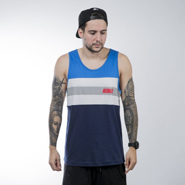 Koka tank - top Stripes blue / white / navy