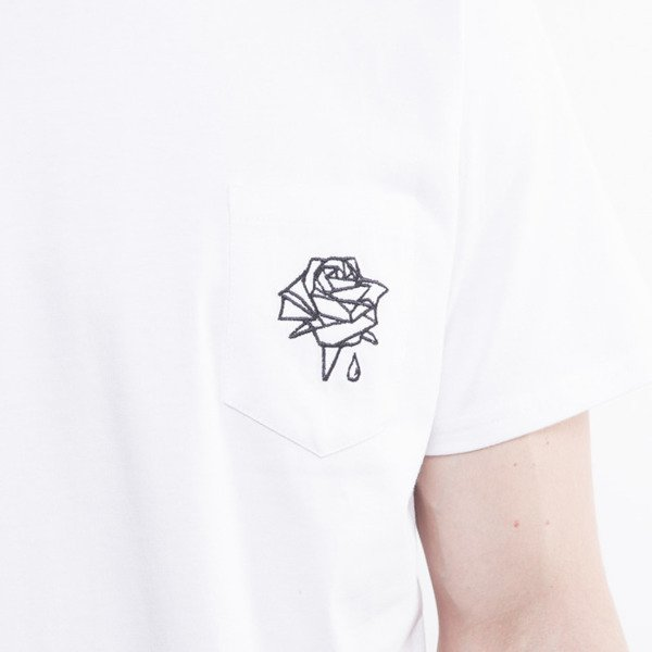 Life/Stab t-shirt Bleeding Rose Pocket white