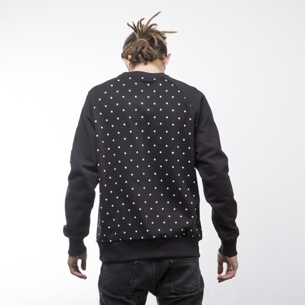 Luxx All swetashirt  Basic Dots crewneck black