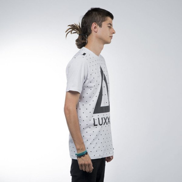 Luxx All t-shirt Logo Dots white