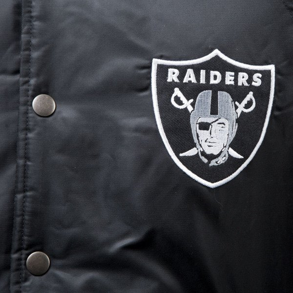 Majestic Athletic Brisk Hooded Mix Fabric Jacket Oakland Raiders black MOR2358DB
