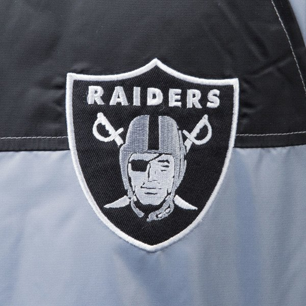 Majestic Athletic Clime Satin Jacket Oakland Raiders silver MOR2357SB