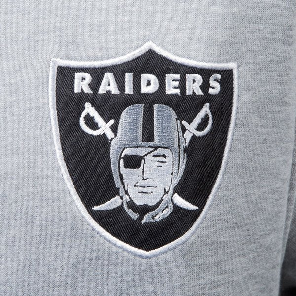 Majestic Athletic Emodin Fleece Letterman Jacket Oakland Raiders grey MOR2360E2