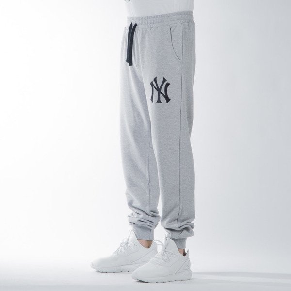 Majestic Athletic Garten Cuffed Hem Jogger New York Yankees marl grey (MNY1440E2)