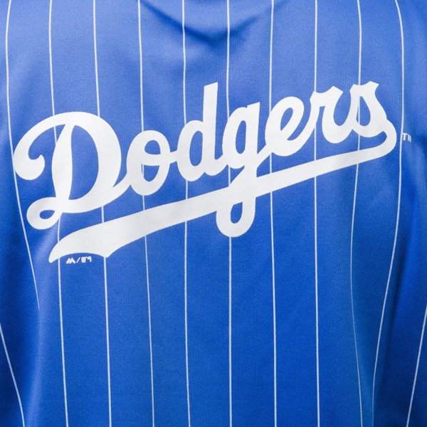 Majestic Athletic Kabor Vneck Poly Tee Los Angeles Dodgers blue MLD2373BC