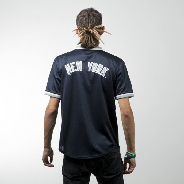 Majestic Athletic Kabor Vneck Poly Tee New York Yankees black MNY2373NL