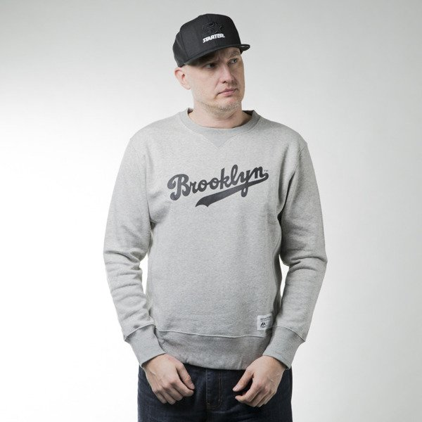 Majestic Athletic Legros Crew Sweat Brooklyn Dodgers marl grey (A3BRO5217)