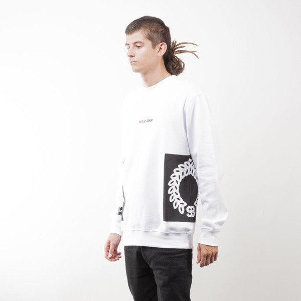 Mass Denim BLAKK sweatshirt Memento crewneck white