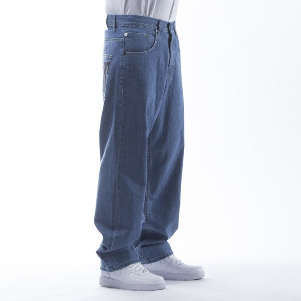 Mass Denim Jeans Outsized baggy fit light blue