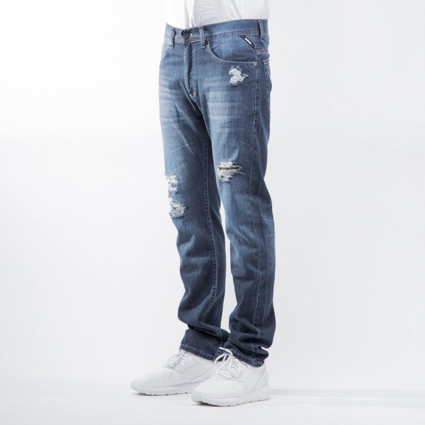 Mass Denim jeans Conversion tapered fit distressed  blue BLAKK