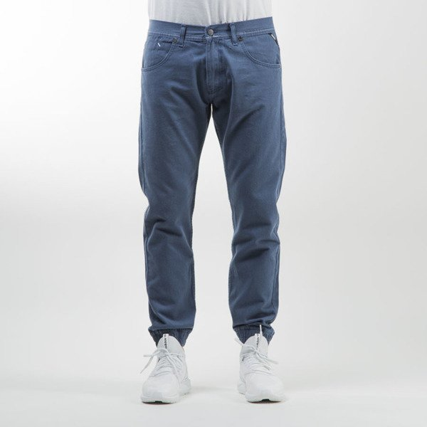 Mass Denim jogger pants Signature sneaker fit blue stone