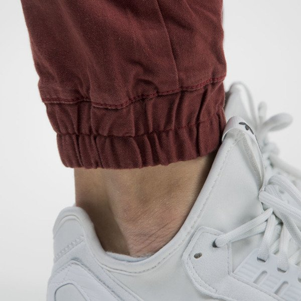 Mass Denim jogger pants Signature sneaker fit claret